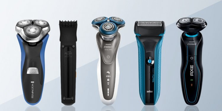 Electric shaver with Shaving cream