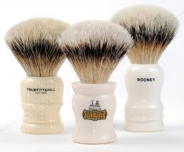 Fan-Shaped Loft Shaving Brushes