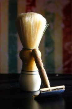 shaving brush and protection shaver