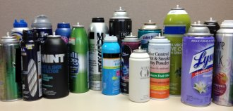 they are types of a number of aerosol items which couldn't ensure it is past the checkpoint in carry on baggage and had been surrendered to TSA on checkpoint.