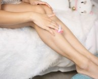Shaving legs for sensitive skin